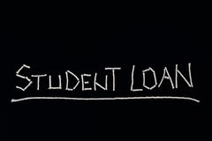 Student loan, unusual concept Royalty Free Stock Image
