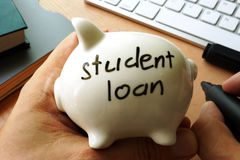 Student loan. stock photography
