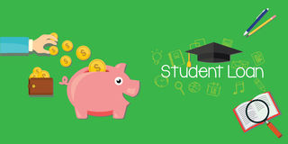 Student loans debt for education Stock Images