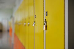 Student lockers Stock Image