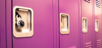 Student Lockers University School Campus Hallway Storage Locker Stock Image