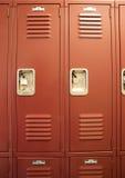 Student Lockers University School Campus Hallway Storage Locker Royalty Free Stock Photos