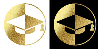 Student logo. In bright gold Stock Image