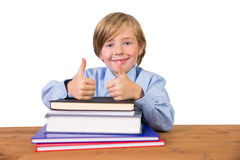 Student looking at the camera Stock Images