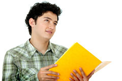 Student looking up Stock Photo