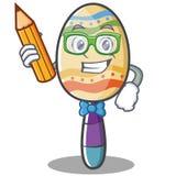 Student maracas character cartoon style Stock Image