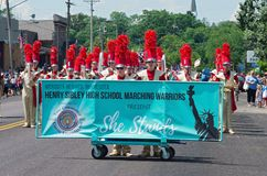 Student Marching Band at Mendota Days Stock Photo
