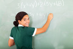Student maths blackboard Royalty Free Stock Photography