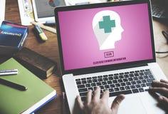 Student medycyny opieki zdrowotnej konsultant Rozwiązuje opieki pojęcie obrazy stock