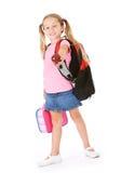 Student: Meisje die Apple brengen aan School voor Leraar stock afbeelding