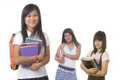 Student met klasgenoten stock fotografie