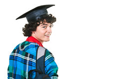Student met rugzak Royalty-vrije Stock Foto