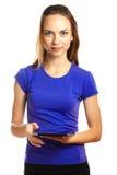 Student met tablet Royalty-vrije Stock Foto
