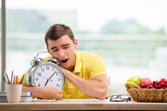The student missing deadlines for exam preparation Stock Photos