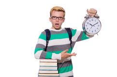 Student missing his deadlines Royalty Free Stock Photos