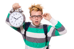 Student missing his deadlines Royalty Free Stock Photography
