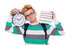 Student missing his deadlines Royalty Free Stock Image