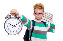 Student missing his deadlines isolated Stock Photos