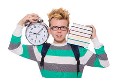 Student missing his deadlines isolated Stock Image
