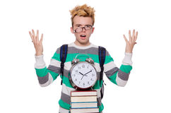 Student missing his deadlines isolated Stock Photo