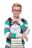 Student missing his deadlines isolated Stock Images