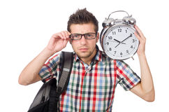 Student missing his deadlines isolated Royalty Free Stock Photography