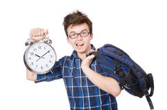 Student missing his studying deadlines Stock Photos