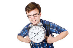 Student missing his studying deadlines Stock Images