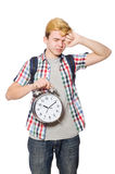 Student missing his studying deadlines Royalty Free Stock Photography