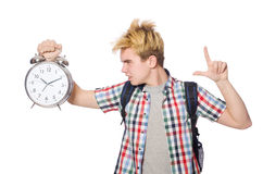 Student missing his studying deadlines Royalty Free Stock Photo