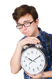 Student missing his studying deadlines Royalty Free Stock Photos