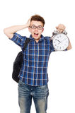 Student missing his studying deadlines Stock Image