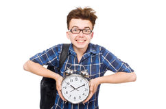 Student missing his studying deadlines Royalty Free Stock Image