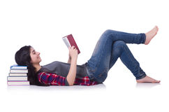 Student mit Büchern Stockfotografie