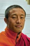 Student Monk. A Buddhist student monk at Do Drul Chorten Stupa at Sikkim, India Stock Photo