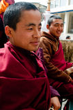 Student Monk. A Buddhist student monk at Do Drul Chorten Stupa at Sikkim, India Royalty Free Stock Images