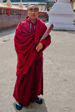 Student Monk at Do Drul Chorten Stupa Stock Photo