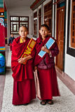Student Monk. Two children Buddhist students at Ralang Monastery, Sikkim, India Stock Image