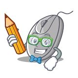 Student mouse character cartoon style Royalty Free Stock Photography