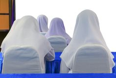 Student  Muslims  lecture room  in university.  Stock Images