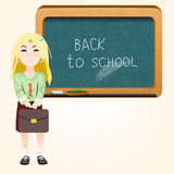 Student near blackboard vector Stock Photography