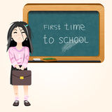 Student near blackboard vector Stock Photo