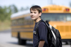 Free Student Near The School Bus Royalty Free Stock Photography - 5229857