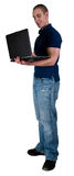 Student With Note Book Computer royalty free stock photography