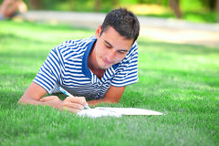 Student with note Royalty Free Stock Photo