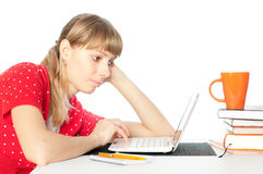 Student with notebok Stock Photography