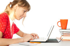Student with notebok Royalty Free Stock Image