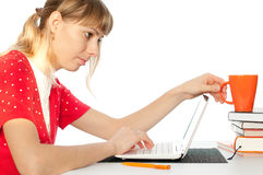 Student with notebok Stock Image