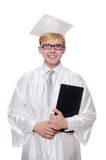 Student with notebook isolated Stock Photography
