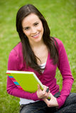 Student with notebooks Stock Photos